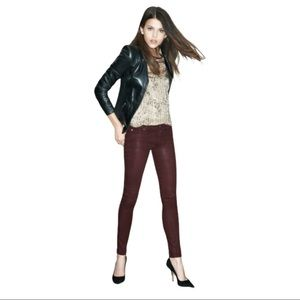 Hudson Krista Ankle Super Skinny Pants Red Size 29